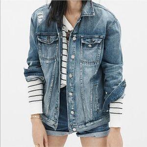 Madewell large oversized denim jacket
